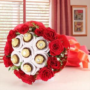 Valentines Day chocolate bouquet Online