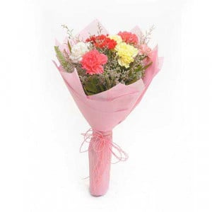 Multicolored Carnations - Bouquet