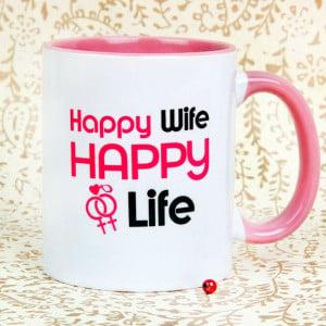 Happy Wife Happy Life Mug
