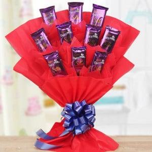 Valentine Chocolate Bouquet Online